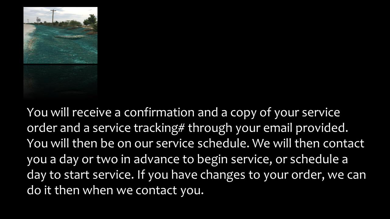 Confirmation Of service