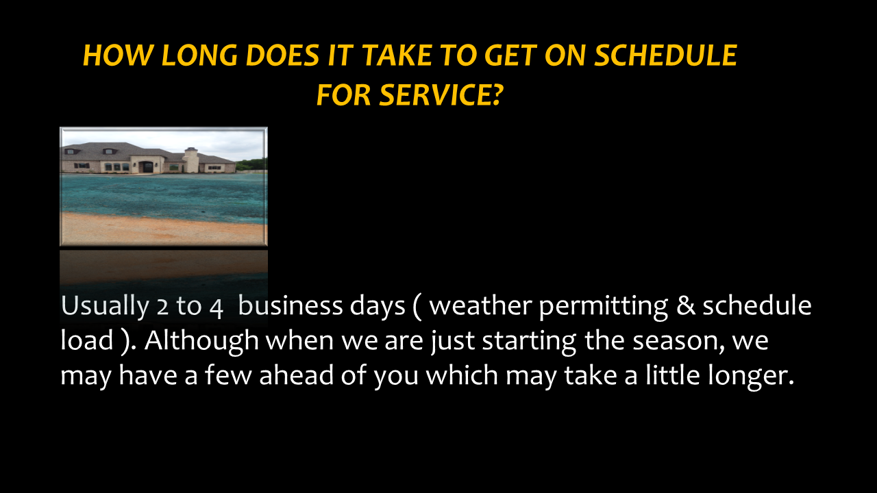 How long Does It Take To Get On schedule?