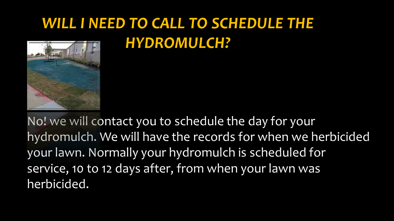 Do I Need to Call For Hydromulch?