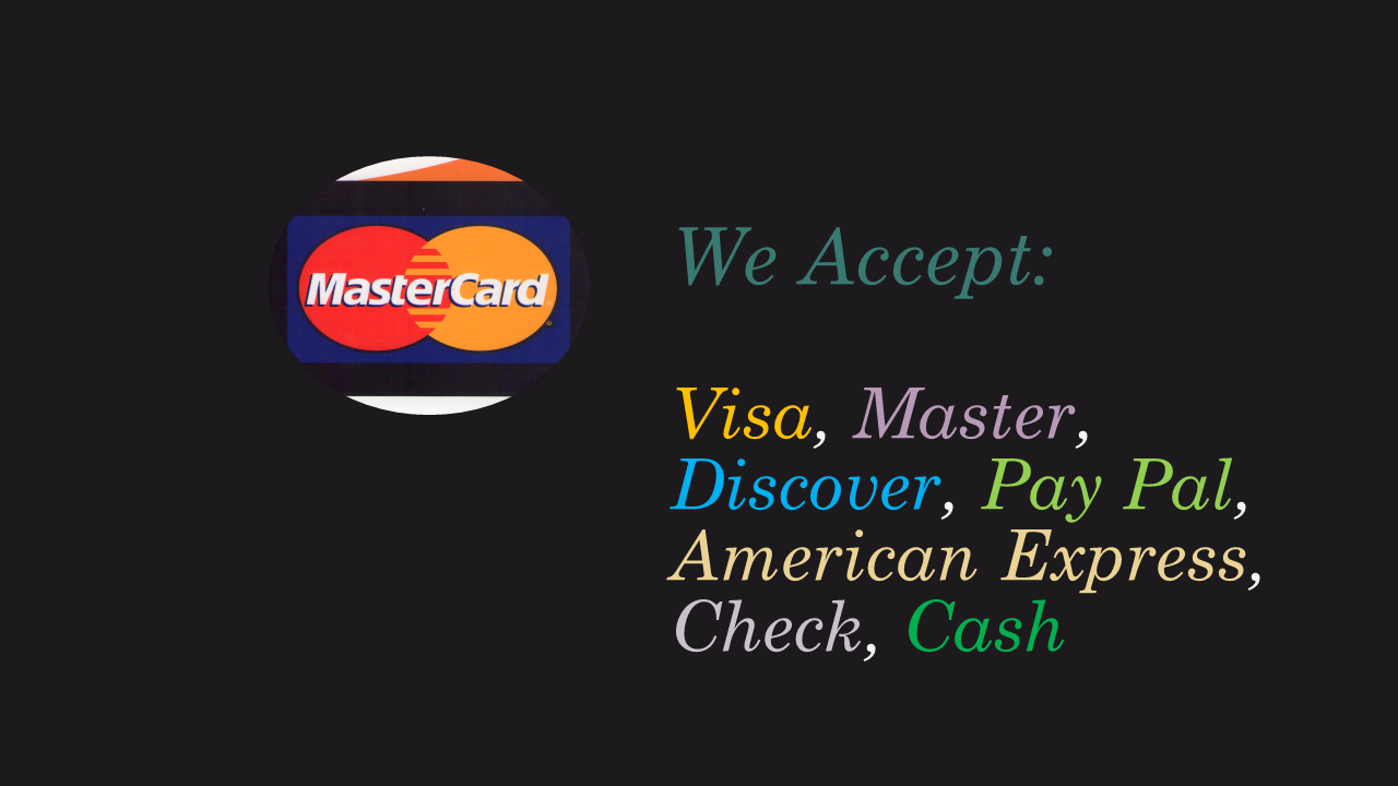 Payments Accepted
