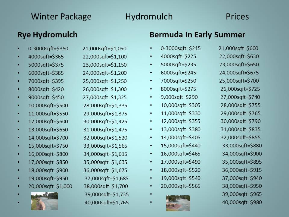 Winter Package Hydromulch