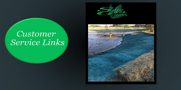 Sure Green Hydromulch Service Links | Customer Service | Info
